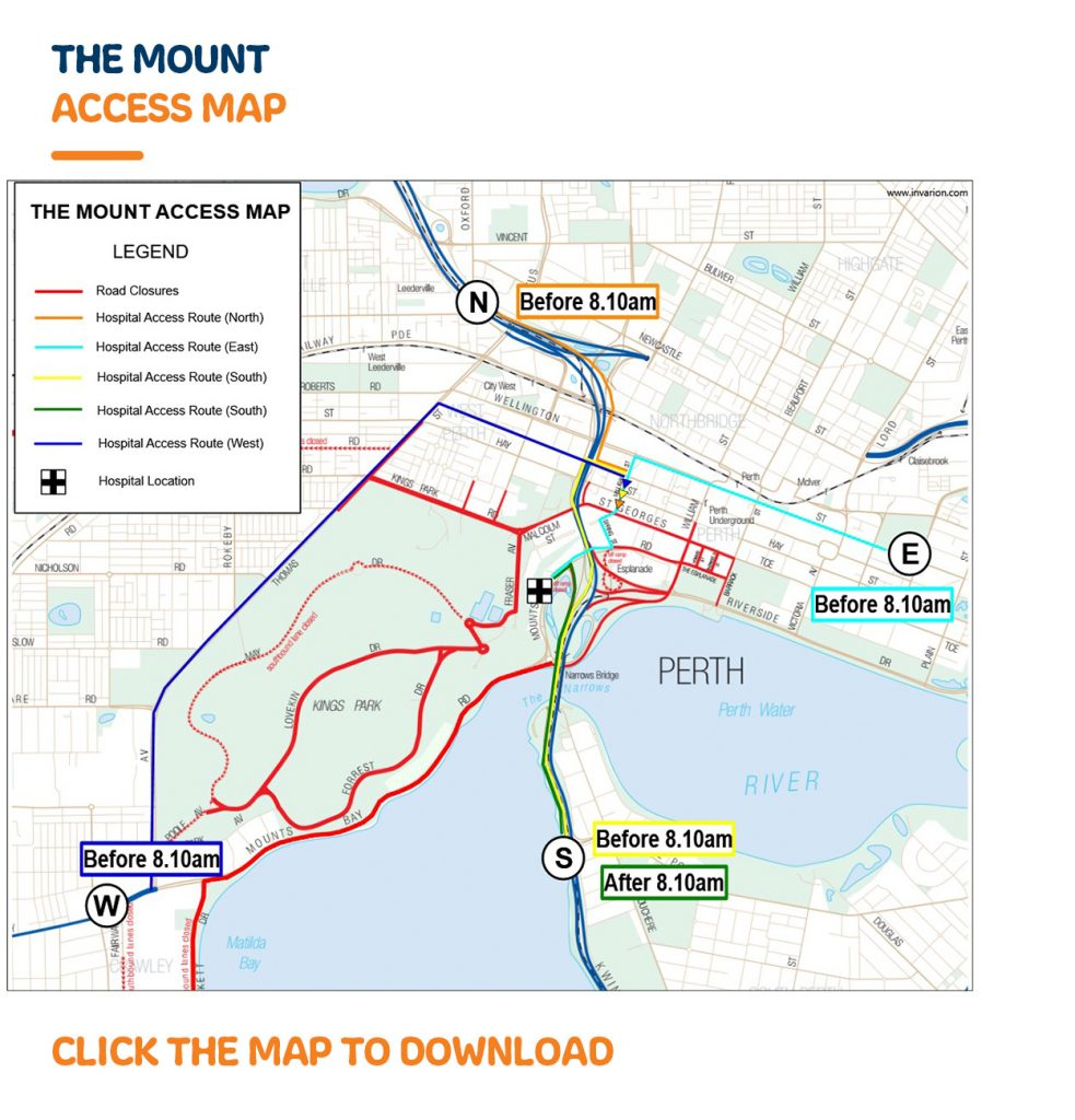 Map Of Western Australia 26th Parallel.Chevron City To Surf For Activ Road Closures